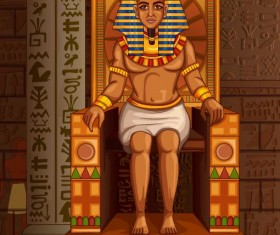 Ancient egyptian styles vector material 27