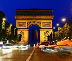 Arc de Triomphe bright light Stock Photo