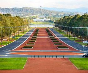 Australian capital Canberra Stock Photo  06