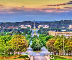 Australian capital Canberra Stock Photo  09