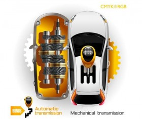 Automatic transmission template vector
