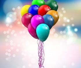 Baloon bokeh background vector