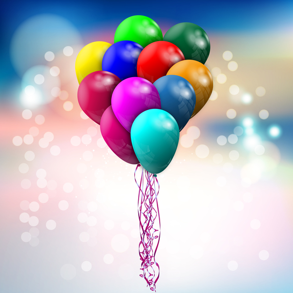 Baloon bokeh background vector