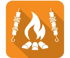 Barbecue firemeat icon