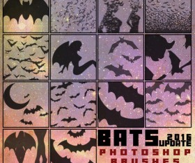Bat photoshop brushes pack
