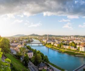 Beautiful city of Austria Stock Photo 07