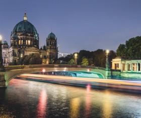 Beautiful city of Berlin Stock Photo 01