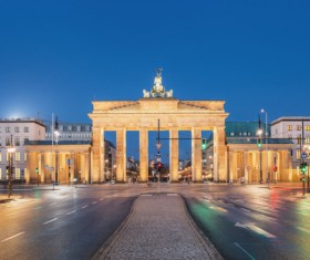 Beautiful city of Berlin Stock Photo 02
