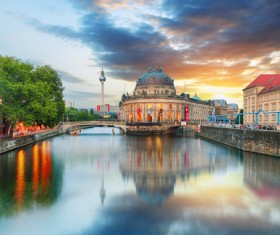 Beautiful city of Berlin Stock Photo 04