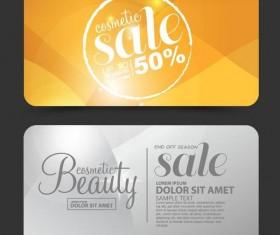 Beauty discounts card vector