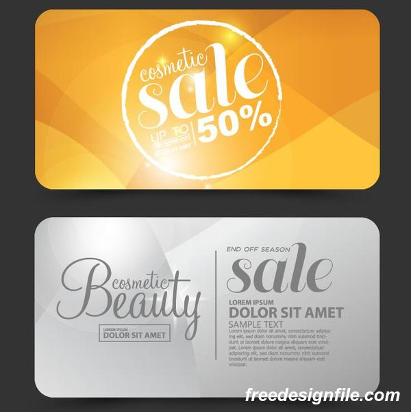 Beauty discounts card vector