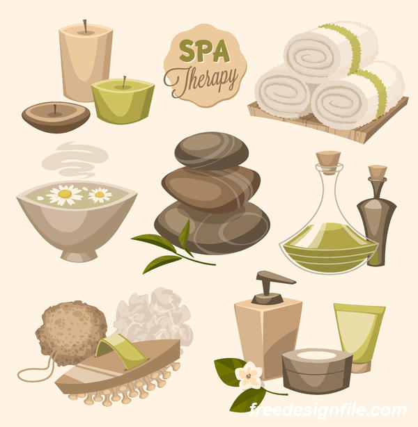 Beauty with health spa poster vectors template 05