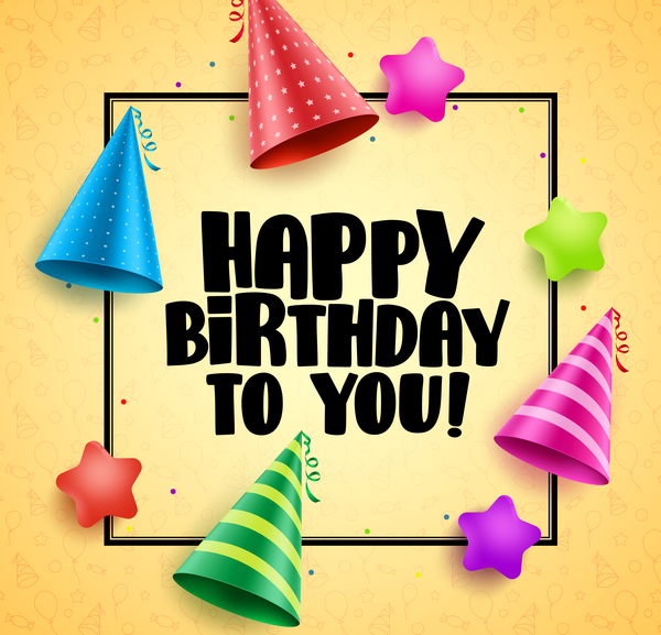 Birthday frame with background vector