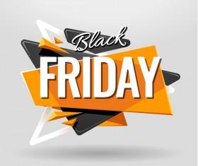 Black Friday Banner vector material 01