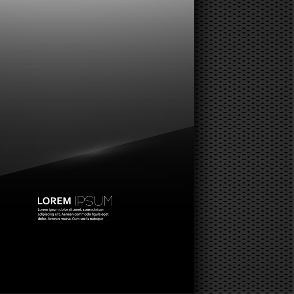 Black background with textures vector