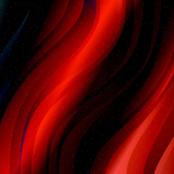 Black with red wave line background vector
