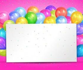 Blank birthday card with color balloon vector