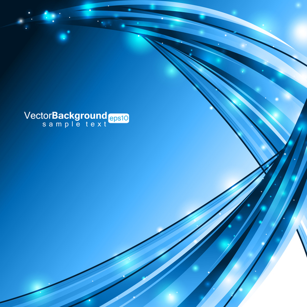 Blue abstract background with light dots vector