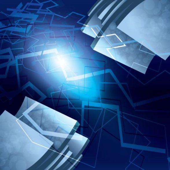 Blue modern background art vector
