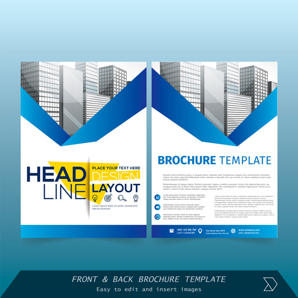 blue styles brochure cover design vector 10 free download