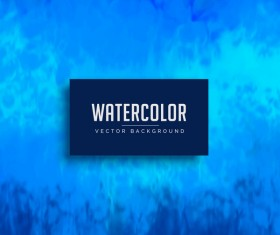 Blue watercolor background vector material