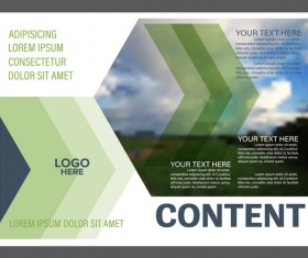 Blue with green styles flyer and cover brochure vector template 04