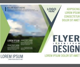 Blue with green styles flyer and cover brochure vector template 17