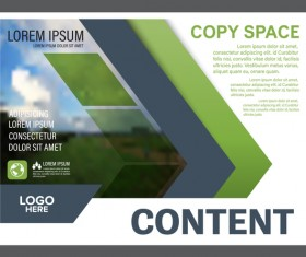 Blue with green styles flyer and cover brochure vector template 20