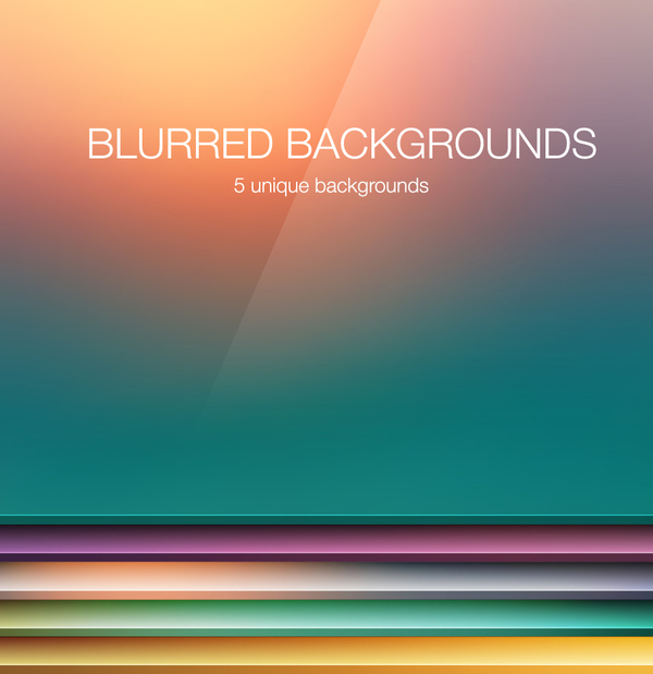 Blurred background colored vector