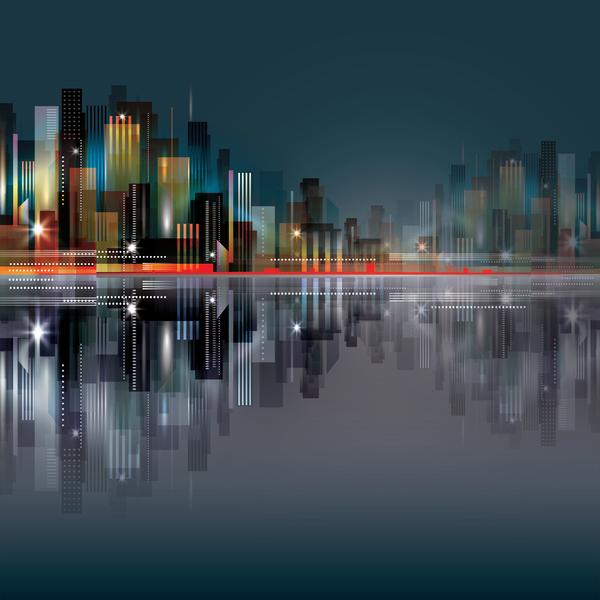 Blurs city background design vectors 01