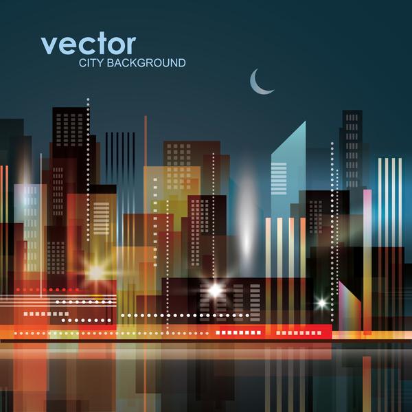 Blurs city background design vectors 02