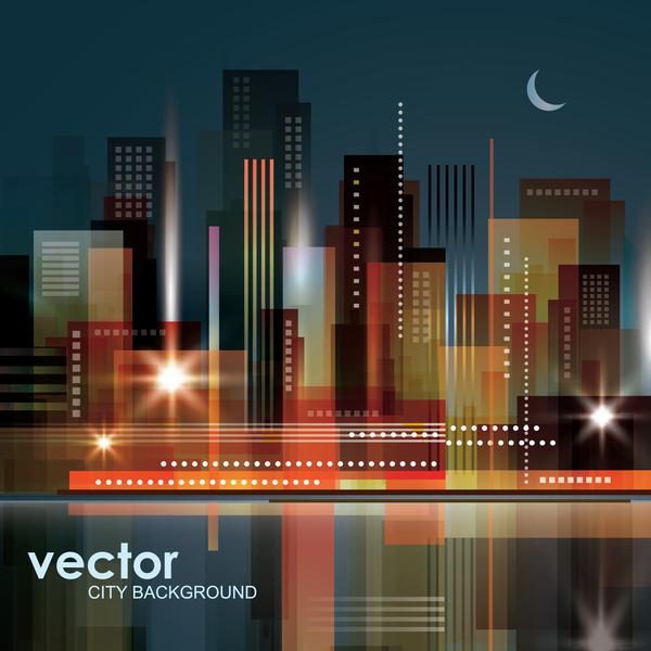 Blurs city background design vectors 03