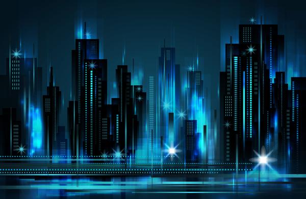 Blurs city background design vectors 04