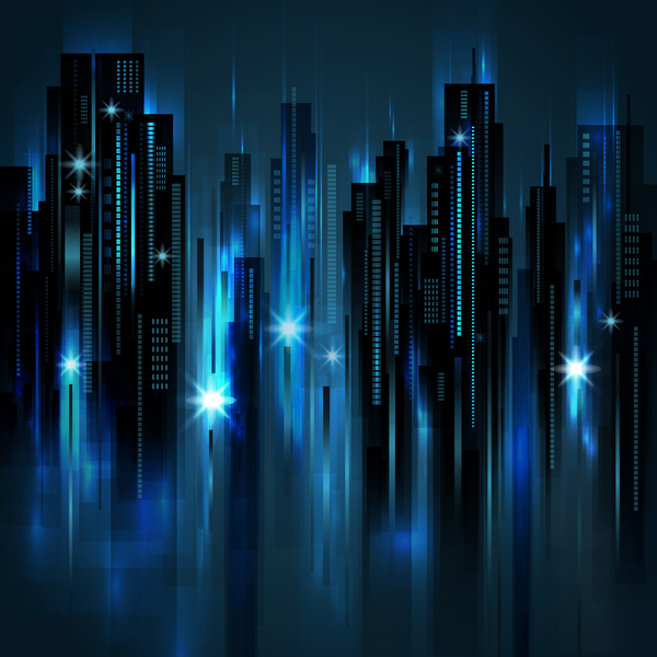Blurs city background design vectors 05