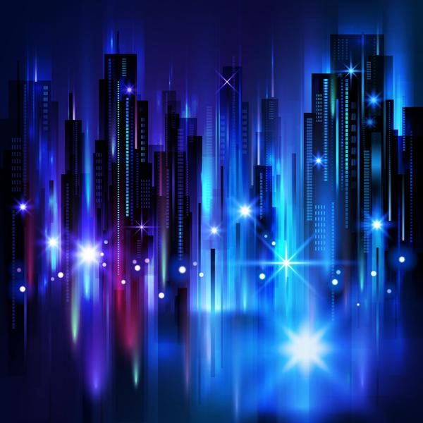 Blurs city background design vectors 06
