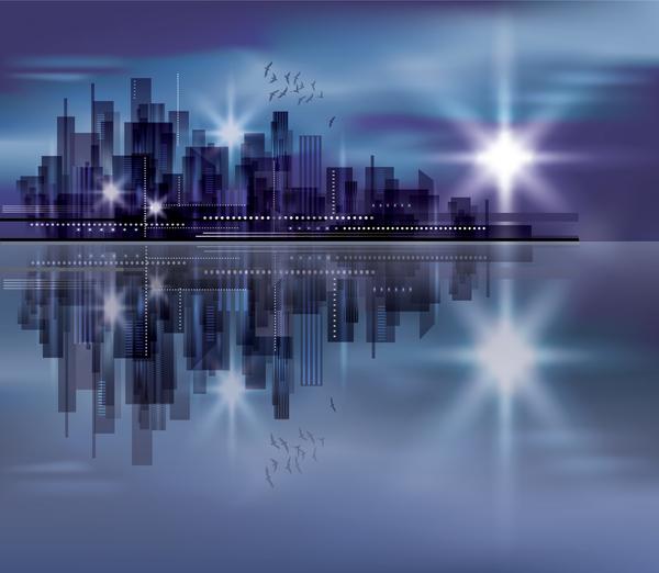 Blurs city background design vectors 08