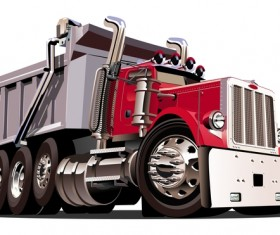 Cartoon dump truck vector 01