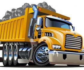 Cartoon dump truck vector 02