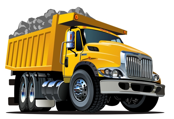 cartoon dump truck vector 03 free download