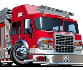 Cartoon fire truck vector 01