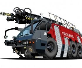Cartoon fire truck vector 02