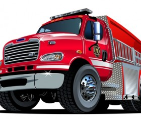 Cartoon fire truck vector 03