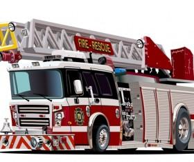Cartoon fire truck vector 07