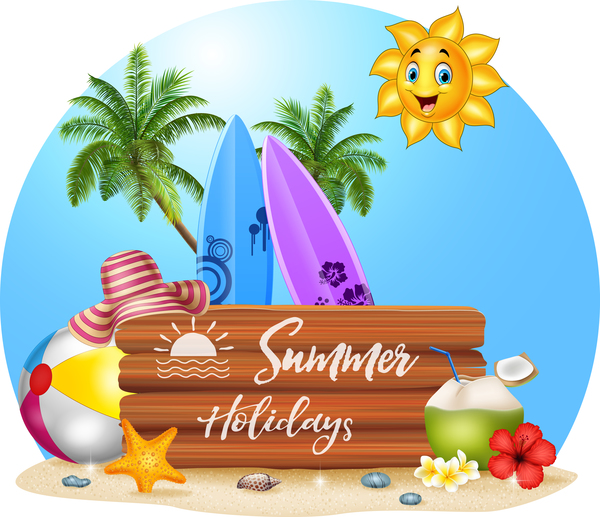 Image result for cartoon summer holiday