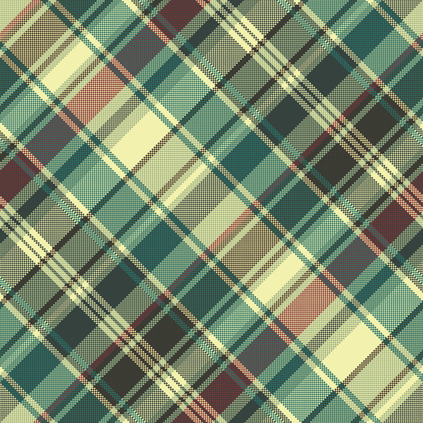 Check Pixel Seamless Pattern Fabric Texture Vector Free Download Gorgeous Check Pattern