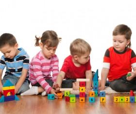 Children building blocks HD picture