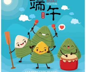 China Dragon Boat Festival Poster Template design Vector 11