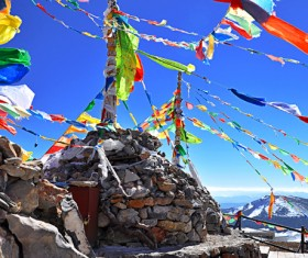 China Tibetan prayer flags HD picture