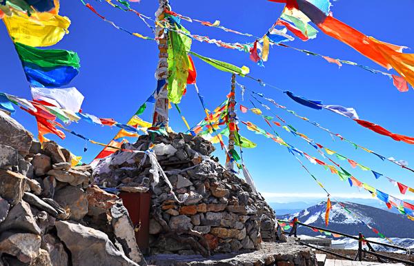 China Tibetan prayer flags HD picture
