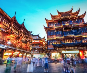 China Wangfujing night view Stock Photo